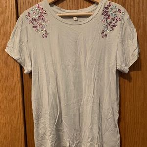 Express One Eleven bejeweled T-shirt, SZ M